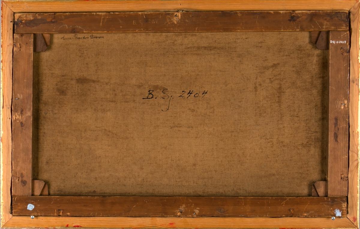 Skipsportrett av DS AUKATHOR under fart. Ser et fyrtårn akter og seilskip foran baugen på AUKATHOR. Unionsflagg akter.