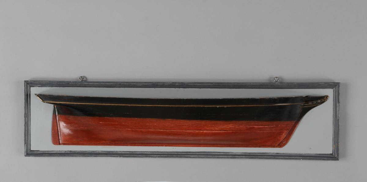 Halvmodell av ukjent seilskip