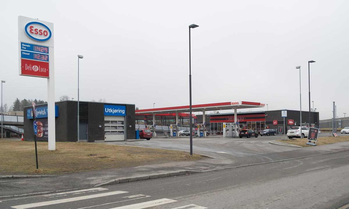Esso bensinstasjon Skårersletta Solheim Lørenskog