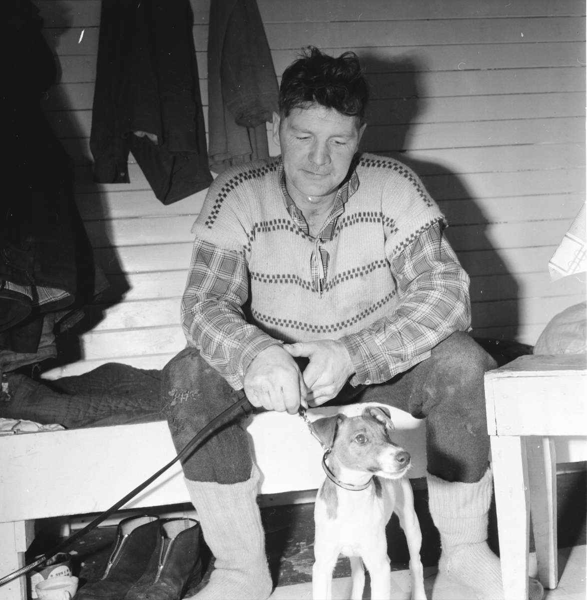 Söderlund Göte, med sönerna Leif o Janne, 5 Febr 1965