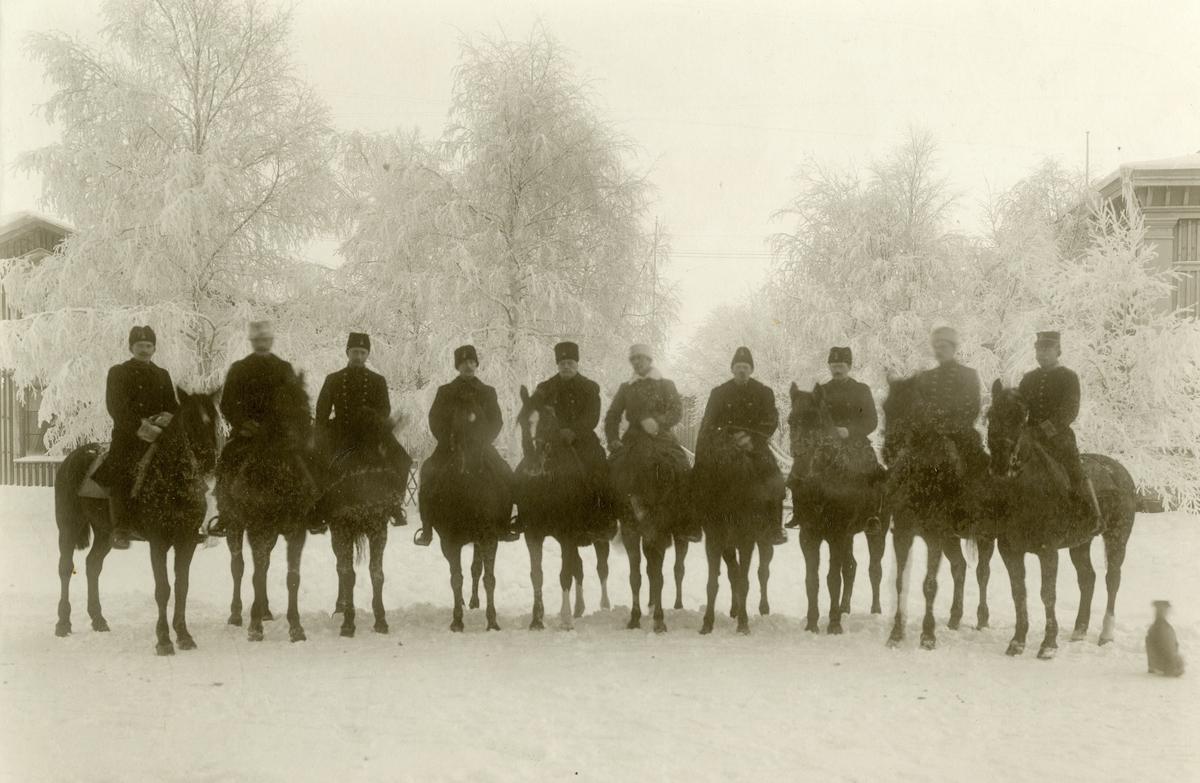 1904 års ridkurs vid Norrlands dragonregemente K 8.