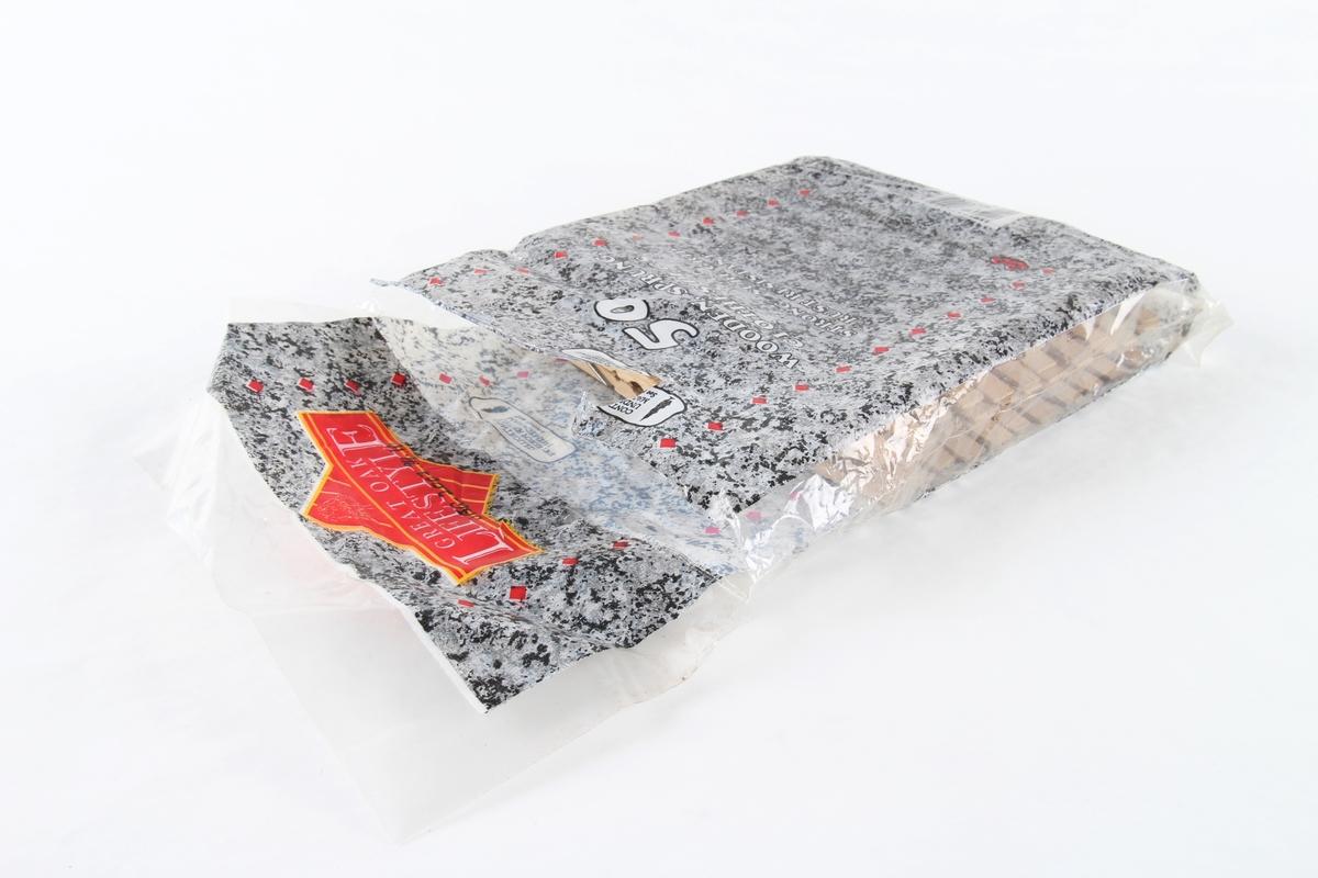 Klesklyper i original emballasje