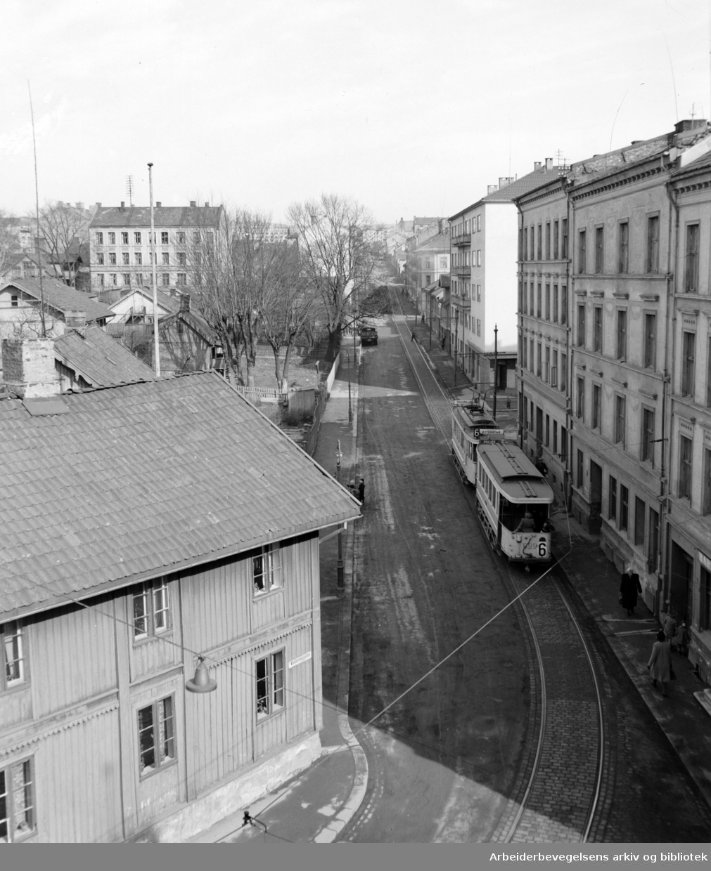 Vålerenggata. Mars 1949