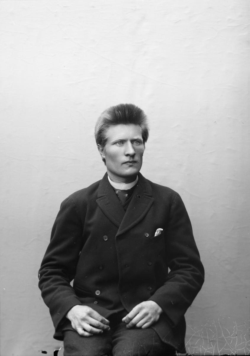 Portrett av Torvald Wistad eller Vistad (Graupe). Fra 1908 til 1937 var han bruker på Vistad gård.