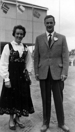 Folkskollärare i Bjurberget, Axel Andersson från Sannola Röjden, med sin fru Ingrid från Peistorpet, Norge.