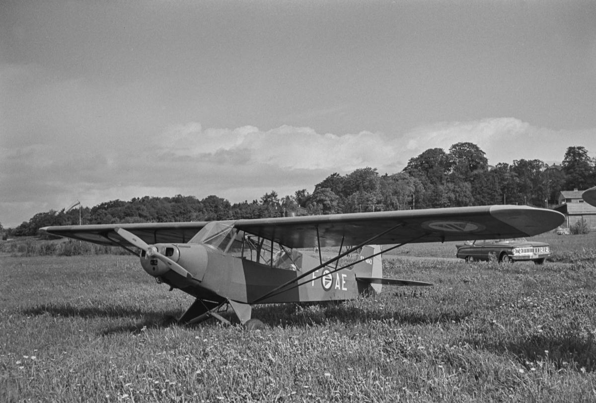 Flystevne på Lade flyplass. Flyplassen ble bygget under 2. verdenskrig, og nedlagt 1965.