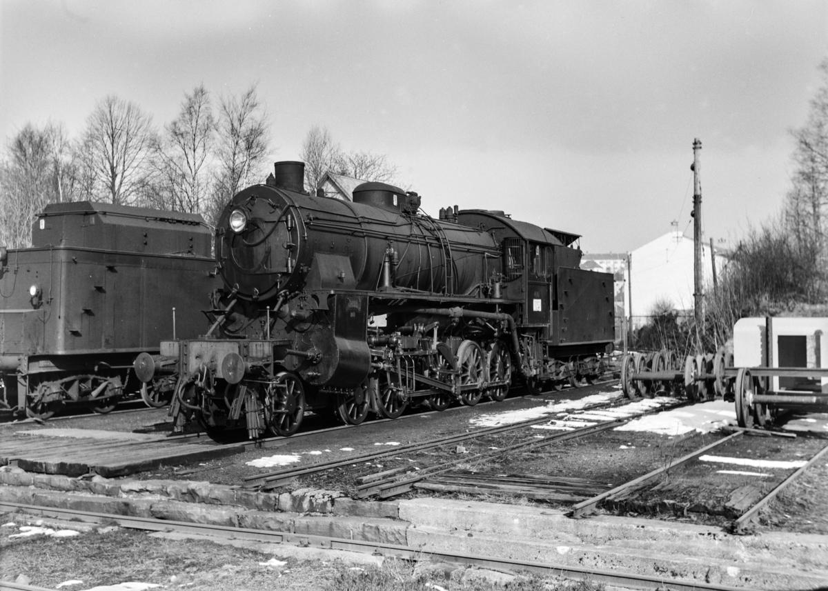 Damplokomotiv type 31b nr. 400 ved Kronstad verksted ved Bergen.