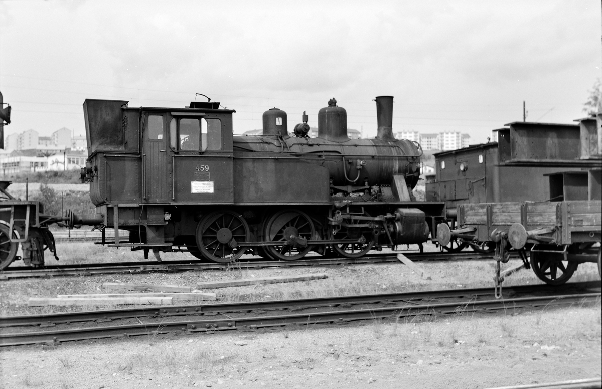Utrangert damplokomotiv type 23b nr. 459 på huggesporet på Grorud Verksted.