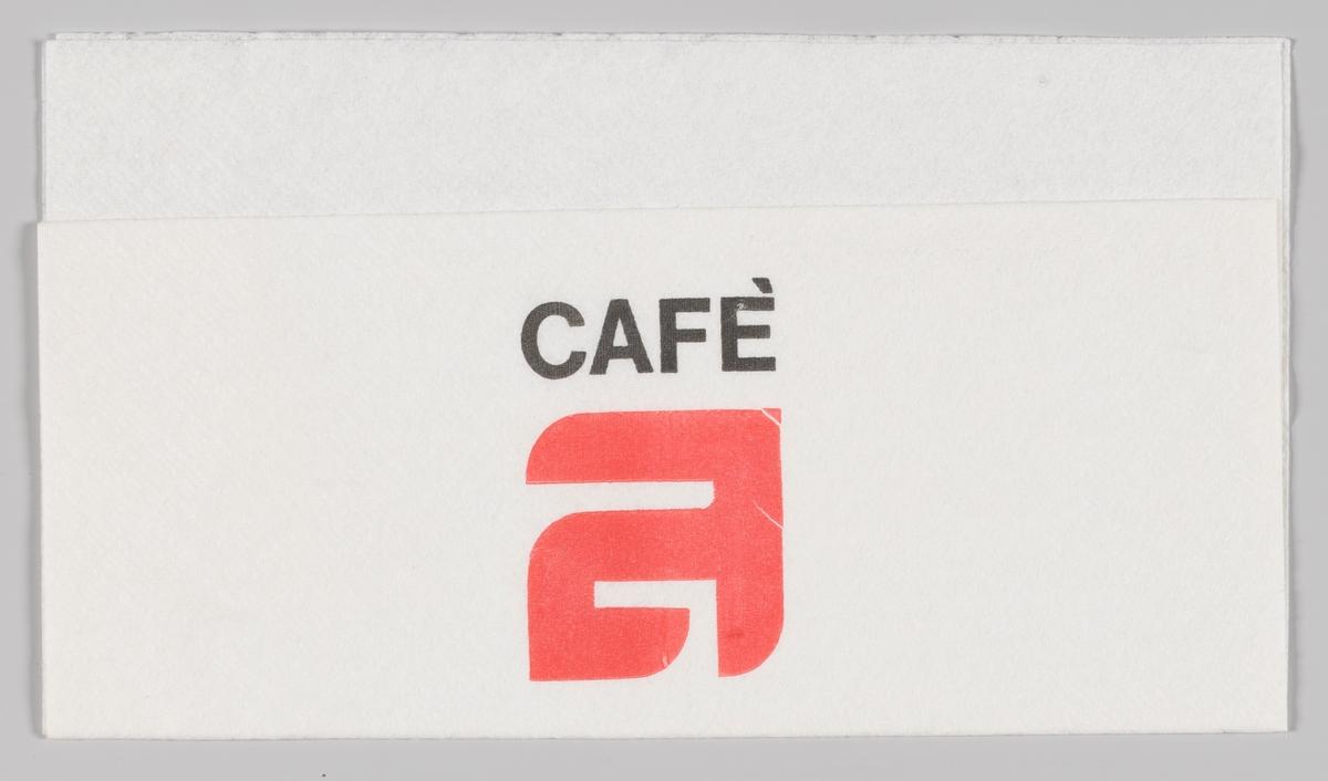 En reklametekst for Cafè A.
