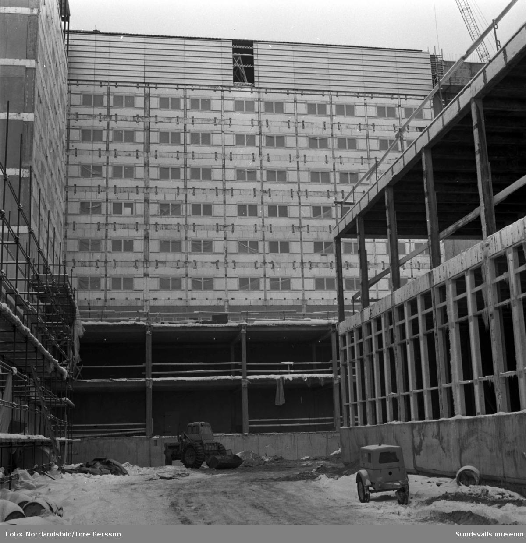 Sundsvalls nya sjukhus under uppförande.