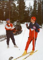 Frå Solseter skistadion. Frå v.Per Einar Brøto og Ivar Bjør