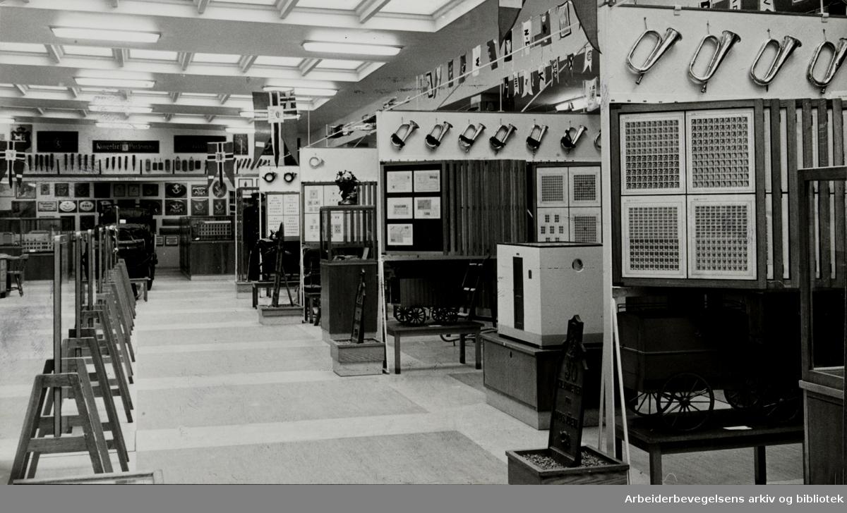 Postmuseet åpnet igjen i nye lokaler. Juni 1958