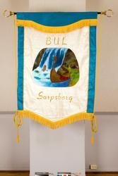 Fane  til BUL Bondeungdomslaget i Sarpsborg, stiftet 14.okto