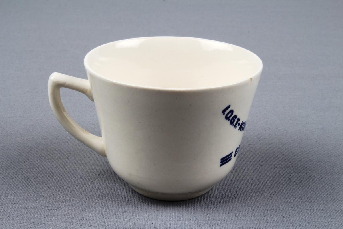 Kaffekopp med hank.