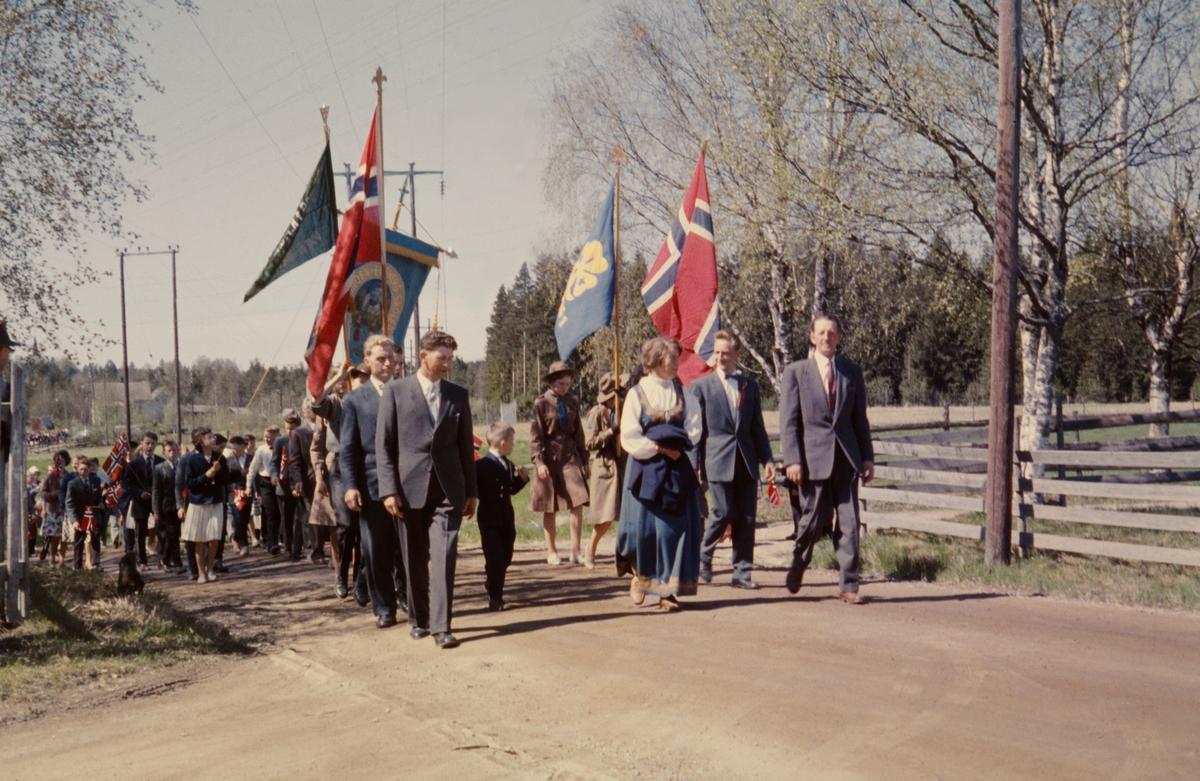 17. maitog på Aurskog i 1960