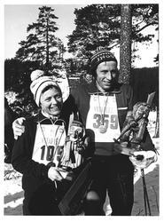 Glade vinnere av Nordmarksmarsjen. Astri Skovdahl fra Fensta