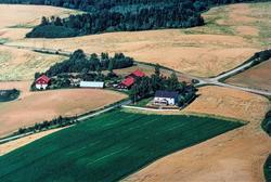 Fly bilde, Flyfoto av Ingelsrud gård, 1997. Bilde trykket på