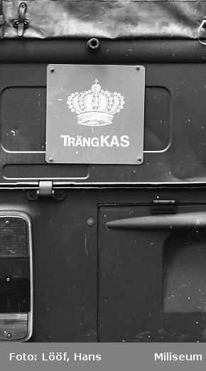 Militärmästerskap Motor. Fordonsskylt TrängKAS.