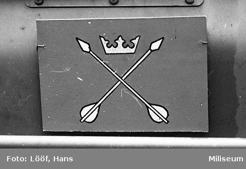 Militärmästerskap Motor. Fordonsskylt, Dalregementet.