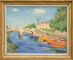 Gavleån vid Kungsbron [Målning]