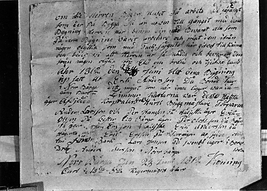 Kroppåsbrev daterat 1812, Norrberga, Munktorp sn.