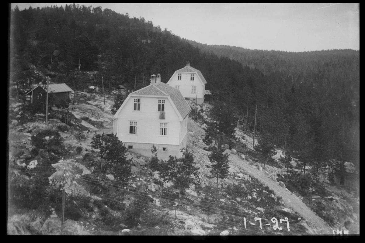 Arendal Fossekompani i begynnelsen av 1900-tallet CD merket 0468, Bilde: 24 Sted: Bøylefoss Beskrivelse: Boliger