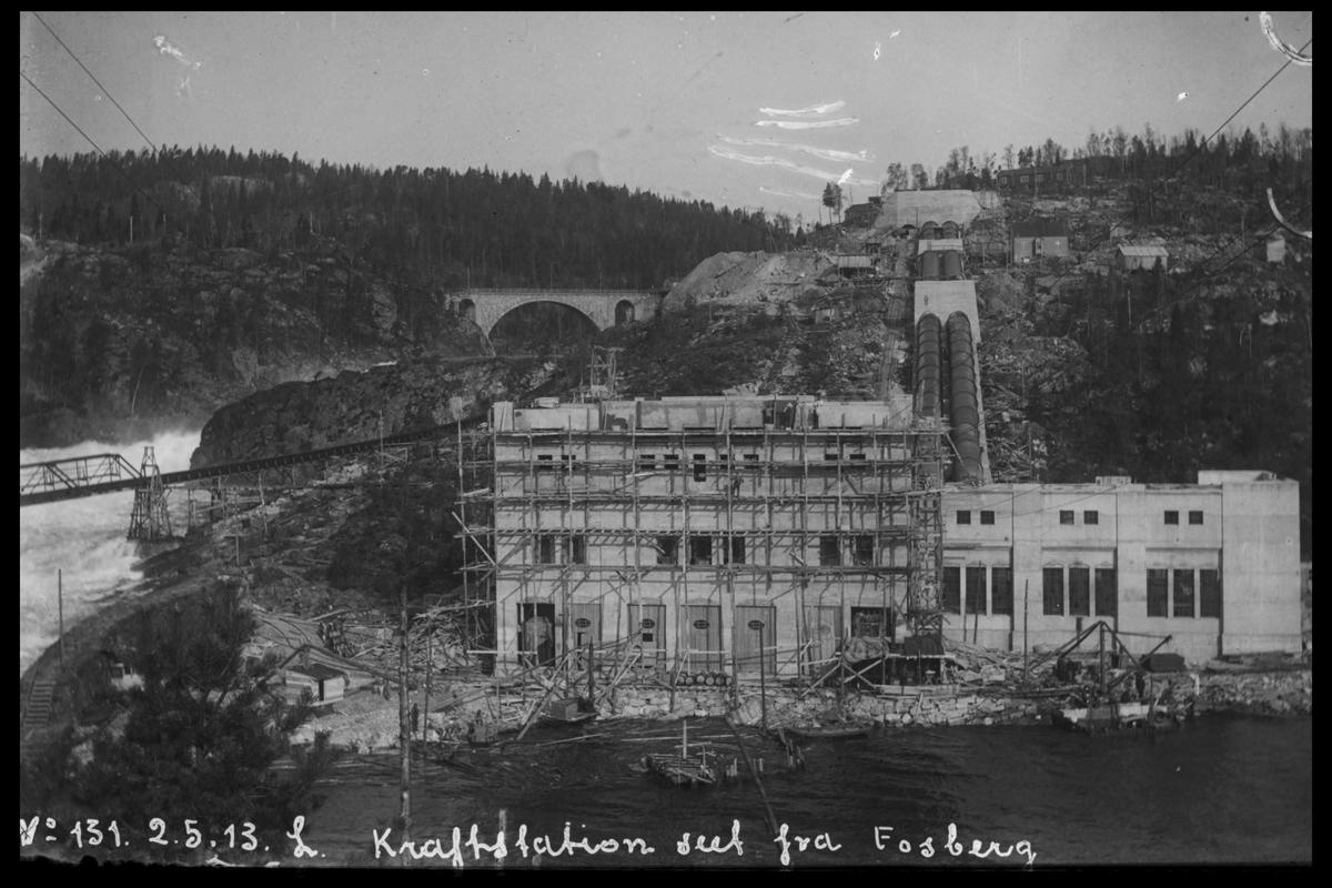 Arendal Fossekompani i begynnelsen av 1900-tallet CD merket 0469, Bilde: 44 Sted: Bøylefoss Beskrivelse: Fra Fossberg