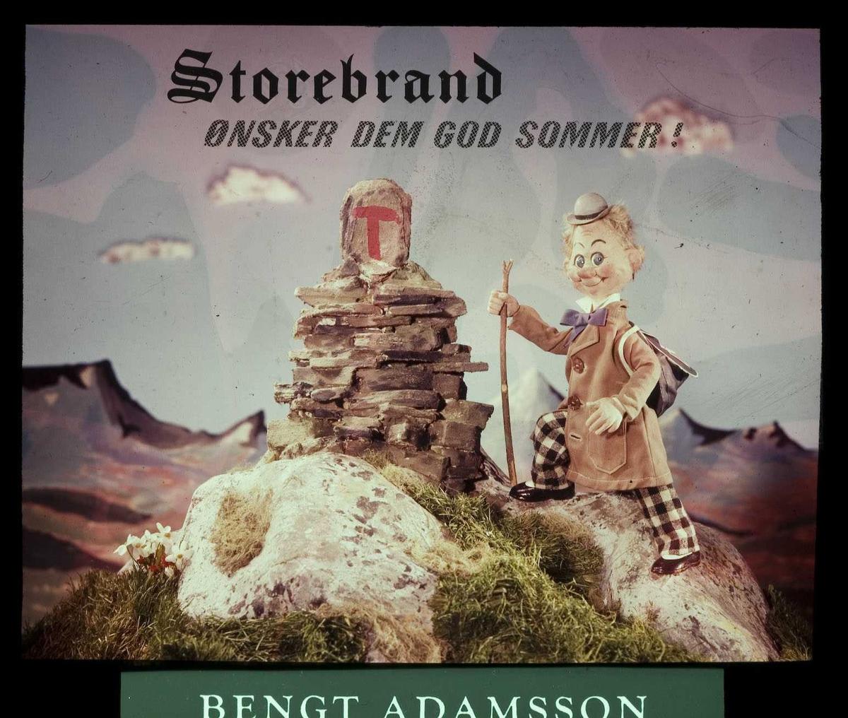 Kinoreklame fra Ski for Storebrand forsikring. Storebrand ønsker Dem god sommer! Agent Bengt Adamsson