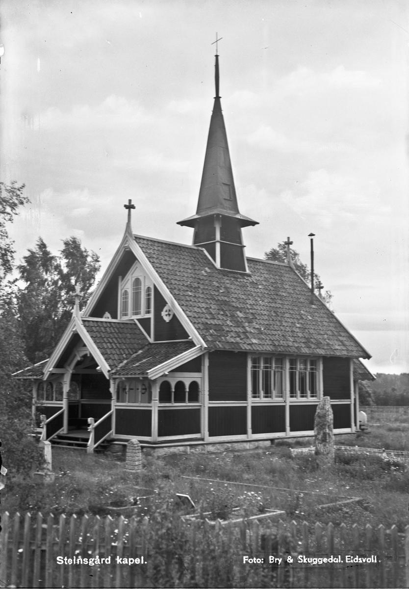 Steinsgård kapell, Nannestad. Ved sørenden av Hurdalsjøen.