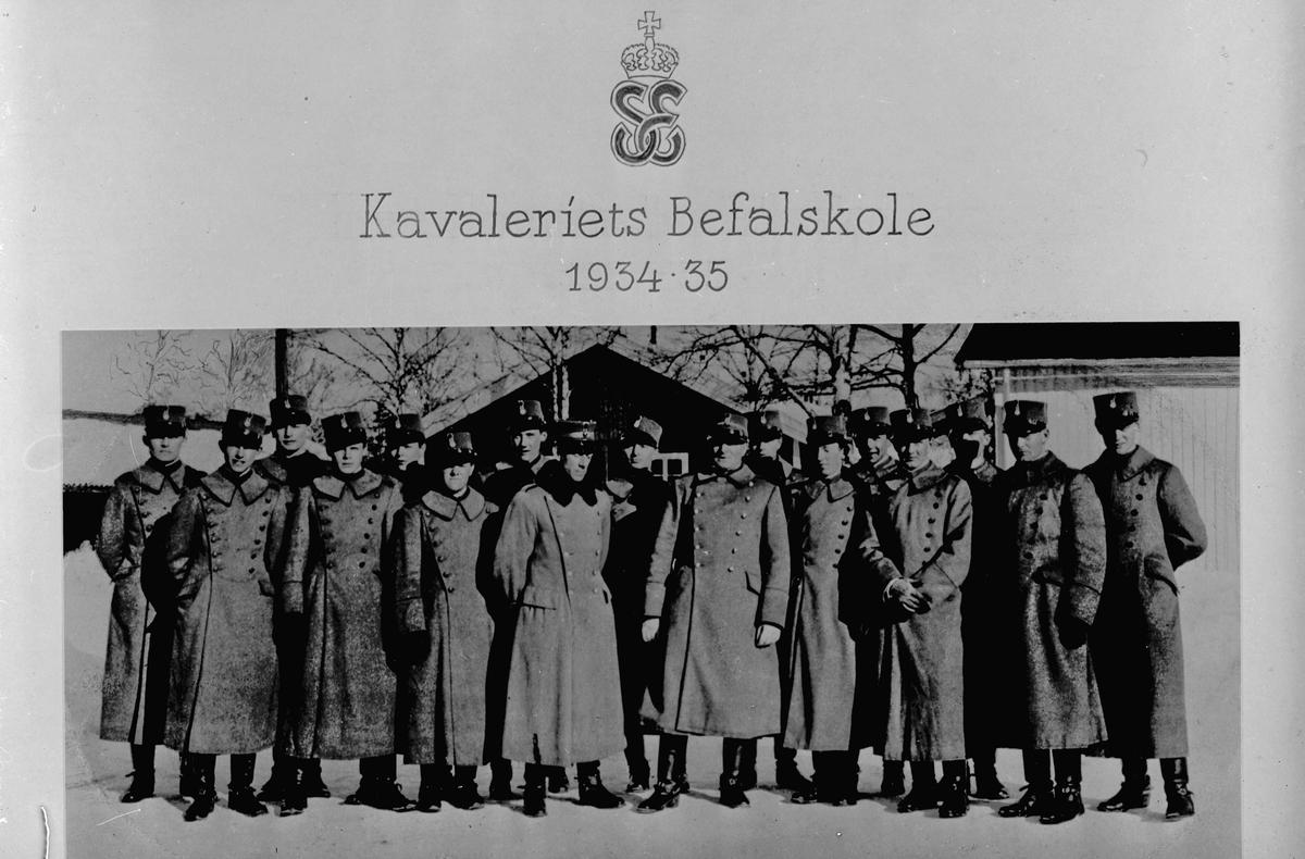 Kavaleriets befalsskole 1934 – 35.