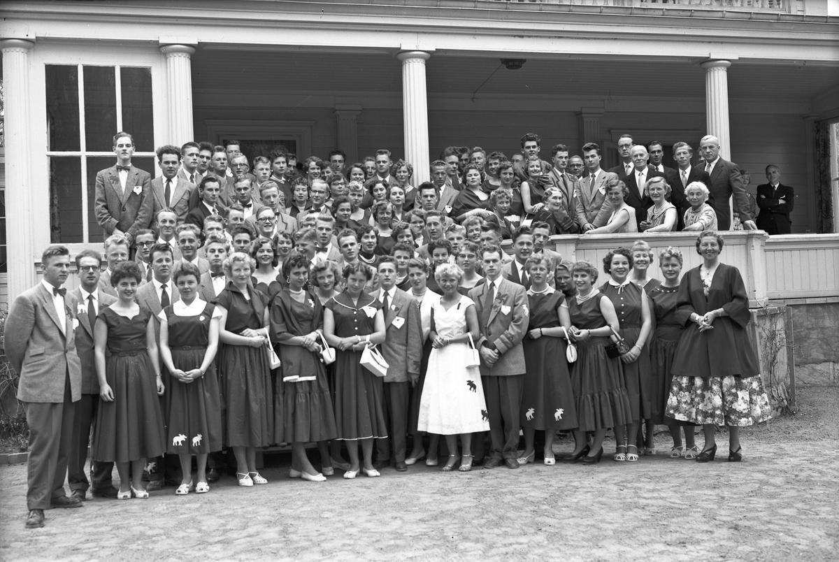 Gruppe elever og lærere ved ELG - Eidsvoll Landsgymnas.