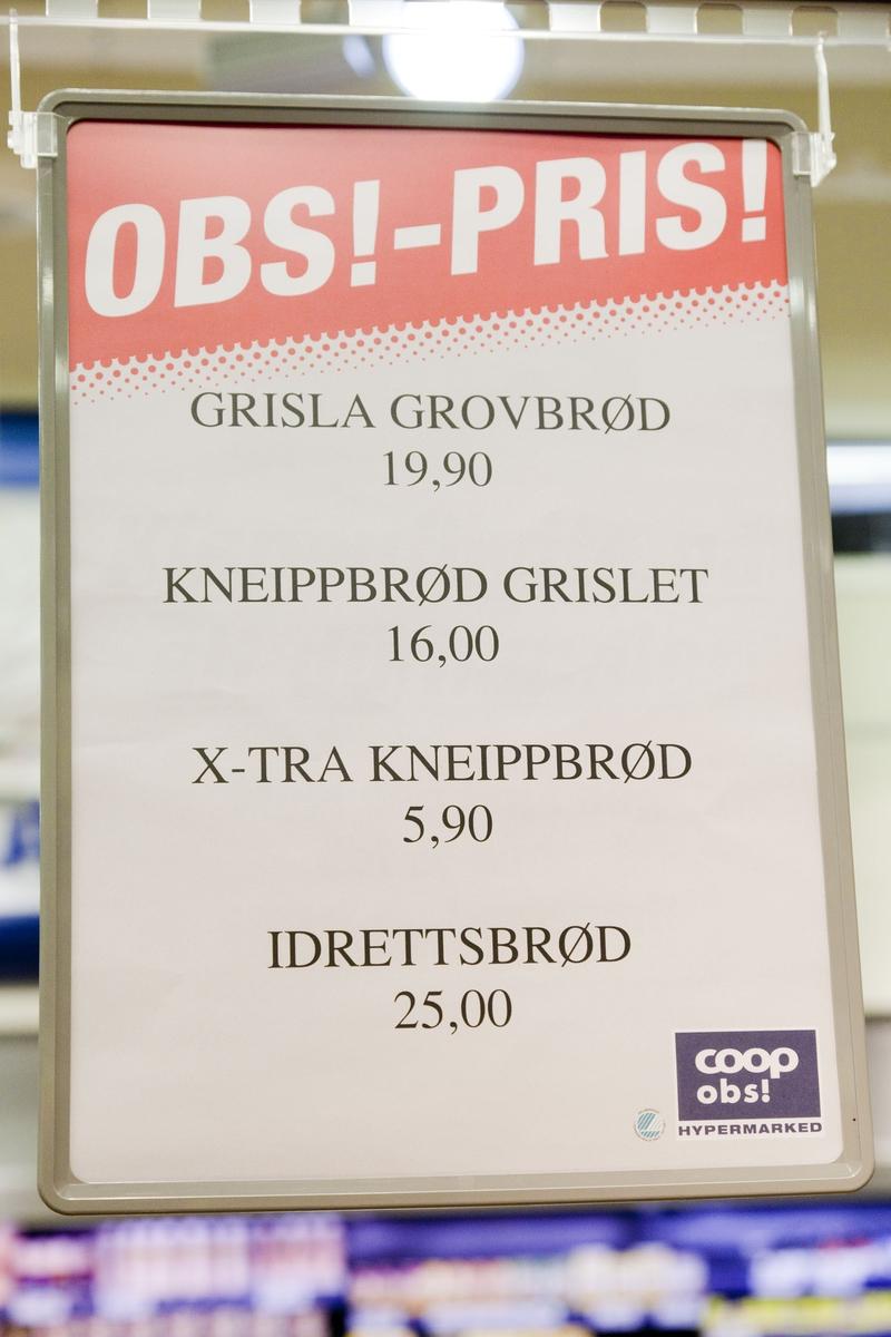 Brødavdelingen på Coop obs! Jessheim