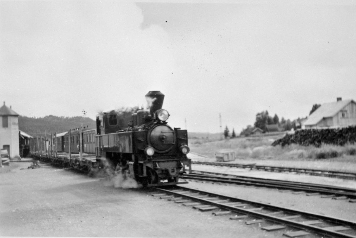 Skifting med lok 7 Prydz på Bjørkelangen stasjon