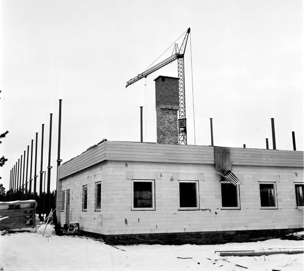 Bygging av Yngvar Christensens nybygg