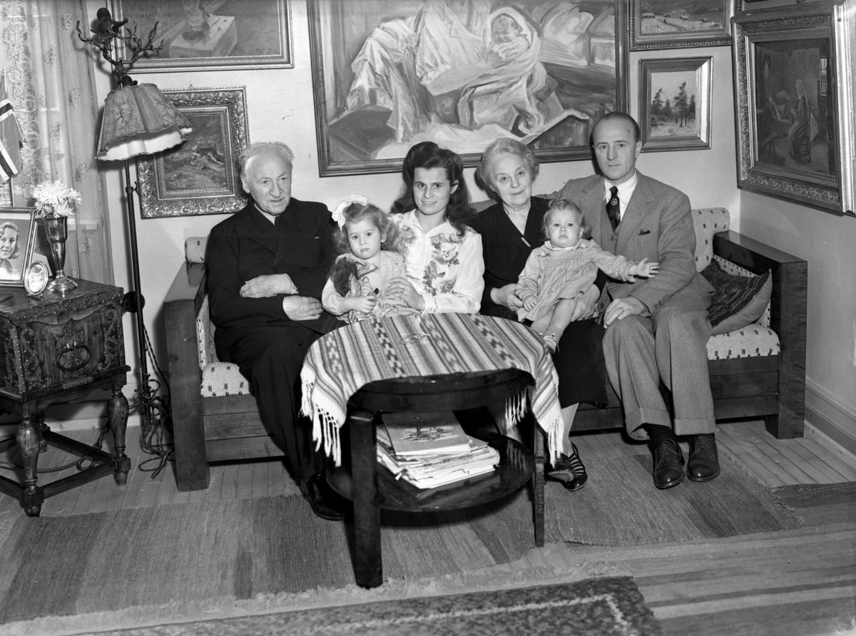 Hamlander med familie