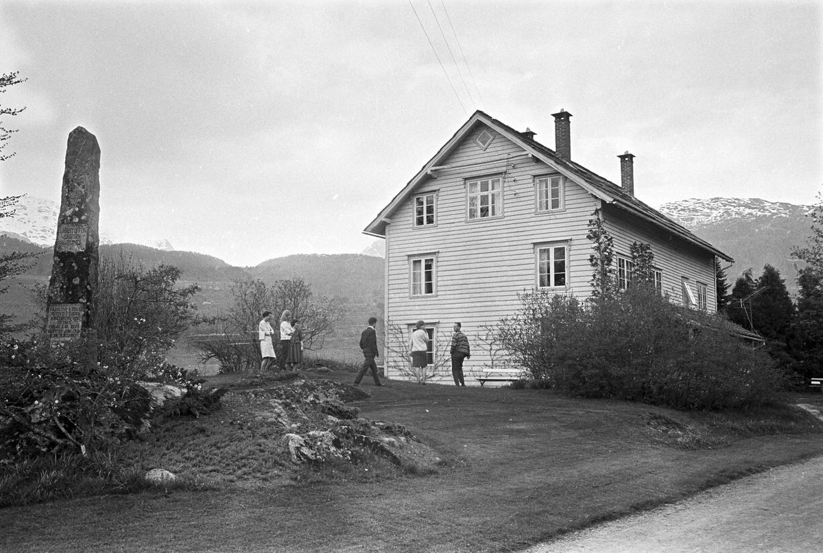 Serie. Hjeltnes hagebruksskole, Ulvik, Hordaland. Fotografert mai 1965.