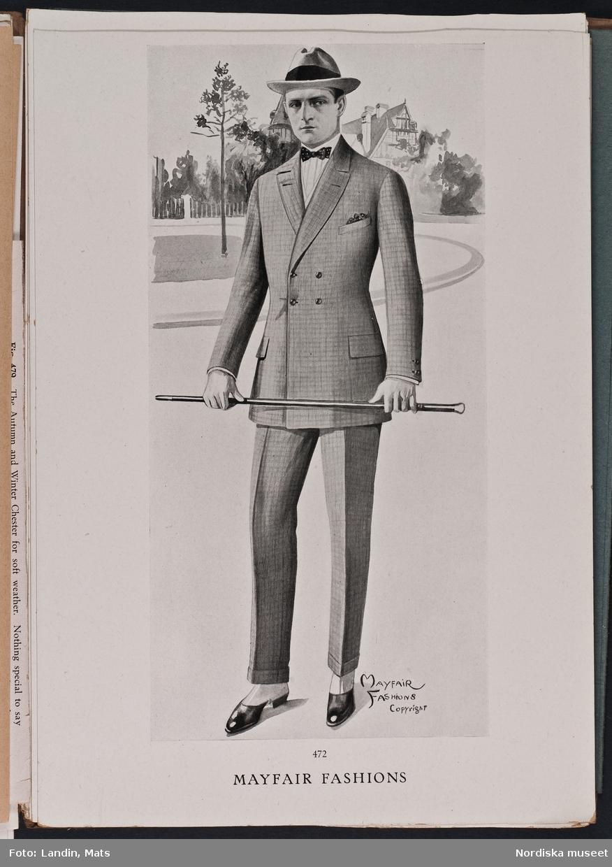 Herrmode, katalog Mayfair Fashions sommaren 1921.