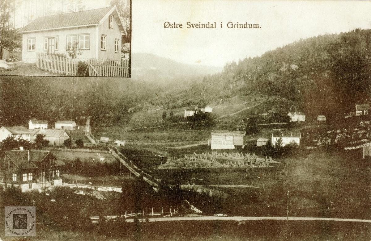 Postkort fra Austre Sveindal i Grindheim senere Audnedal.