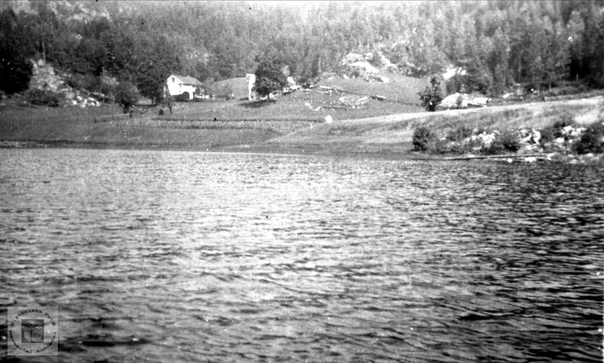 Gården Rekevig ved Manflåvann i Finsland senere Marnardal.