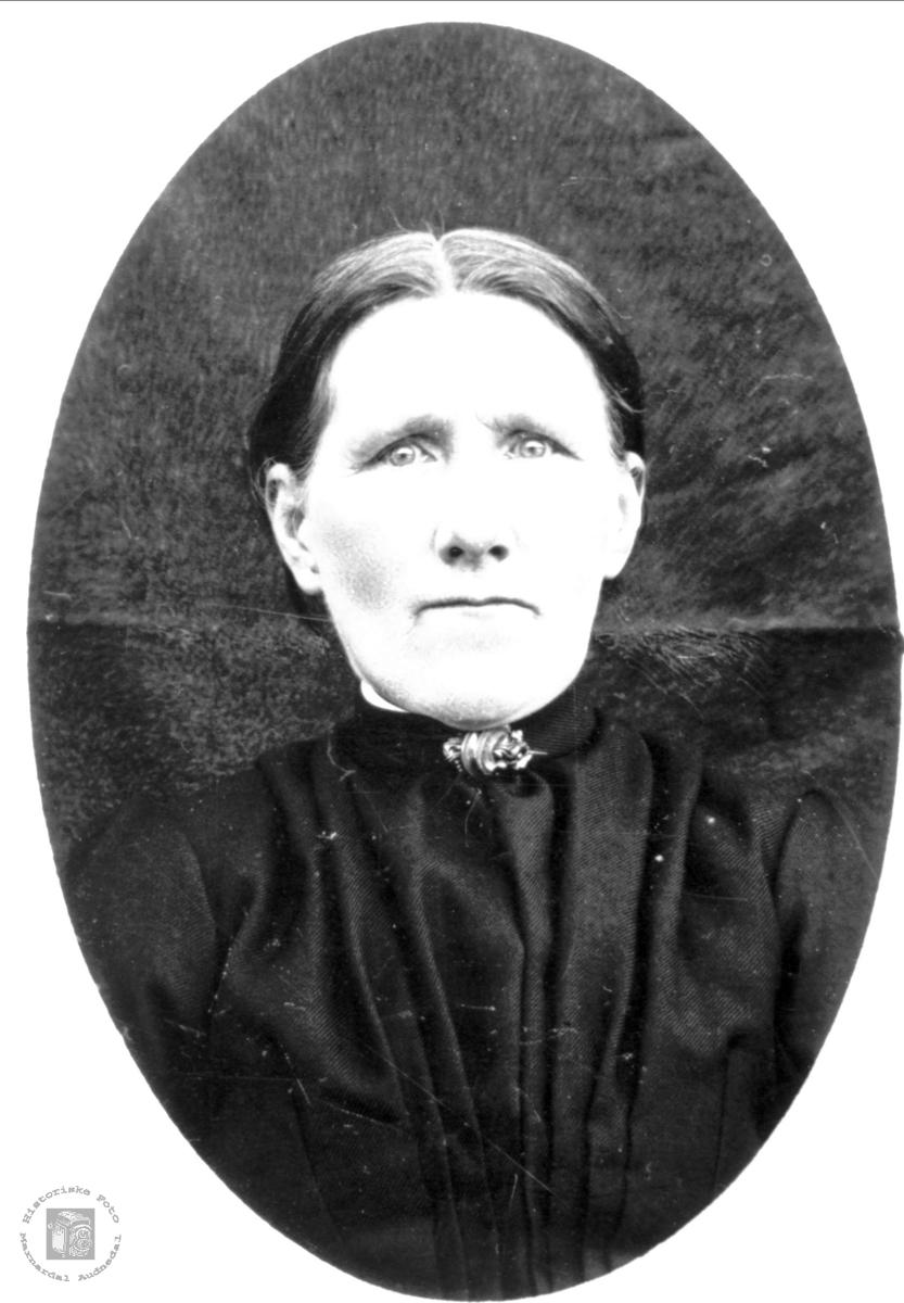 Portrett av Anna Trygsland, Bjelland.