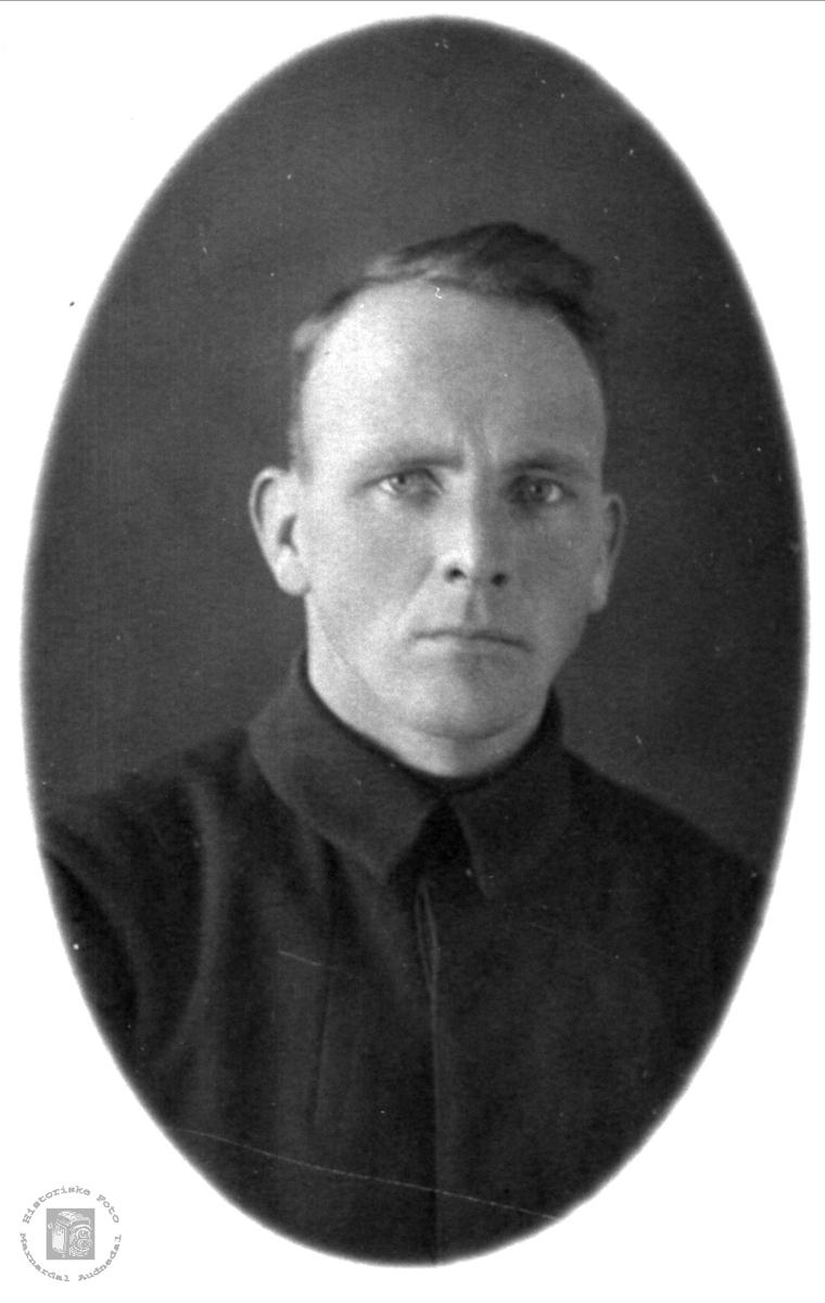 Portrett av Søren Skuland, Skuland, Laudal.