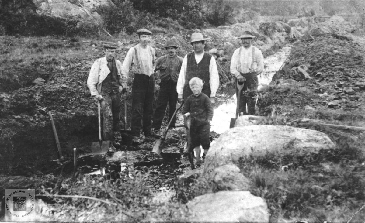 Senkning av Brelandsvannet Øyslebø.