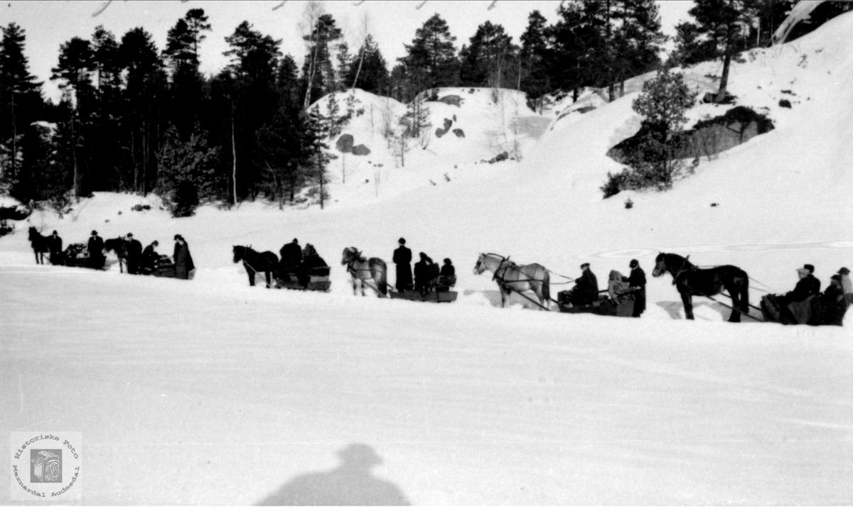 Sigrid Wigemyrs begravelse, Øyslebø.