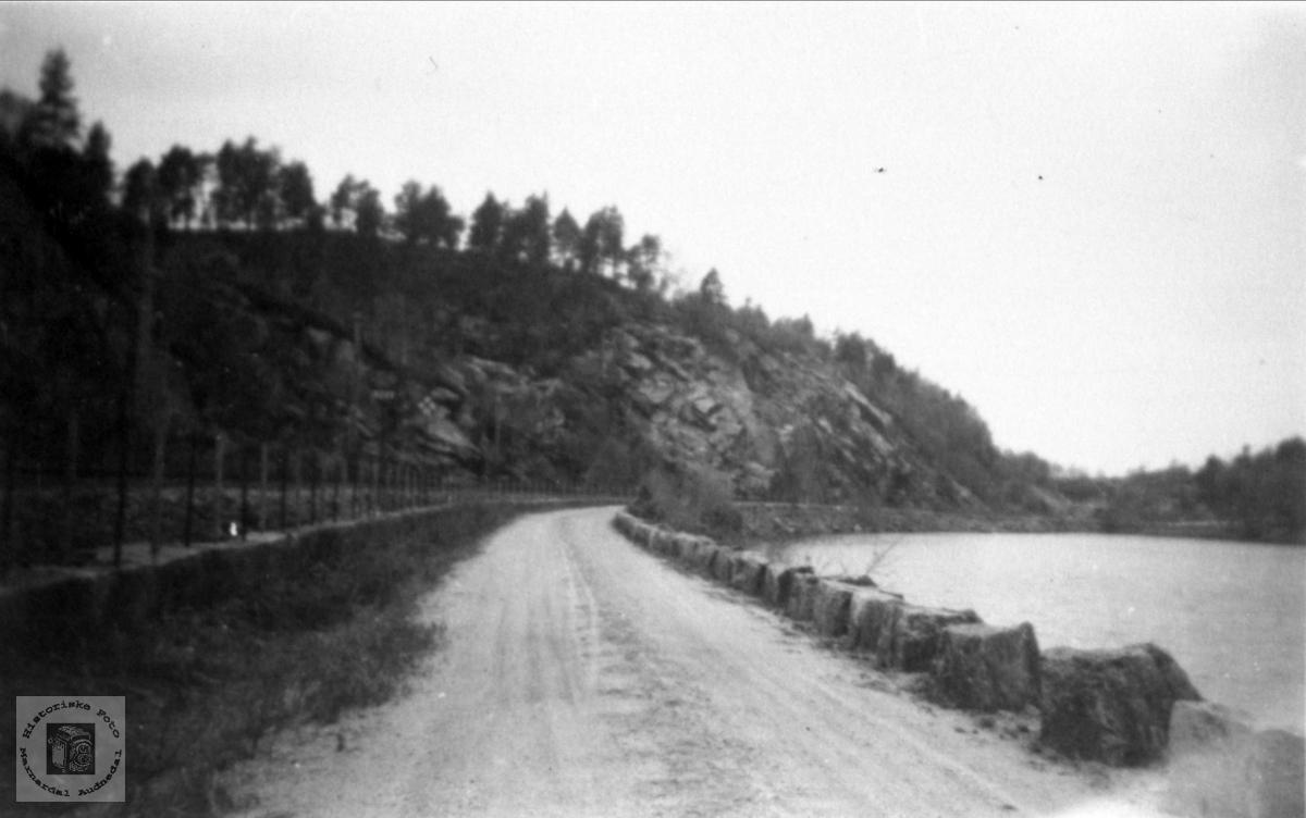 Veien ved Sjåvatn vestover, Øyslebø.