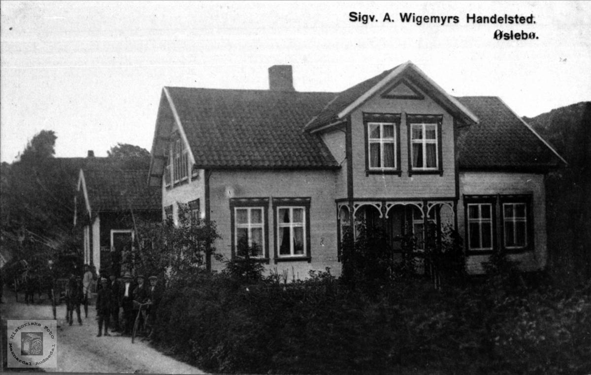 Sigvart A. Wigemyrs handelssted. Øyslebø.