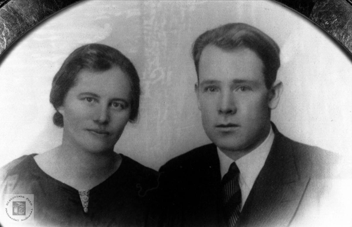 Ekteparet Gunhild og Knut Mjåland, Laudal.