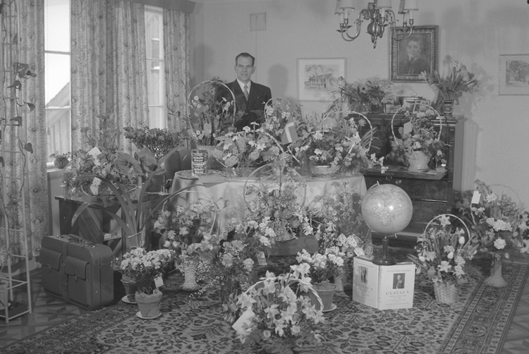 """Text till bilden: """"Ivar Havstam. 50 år. 1951.03.19""""             i"""