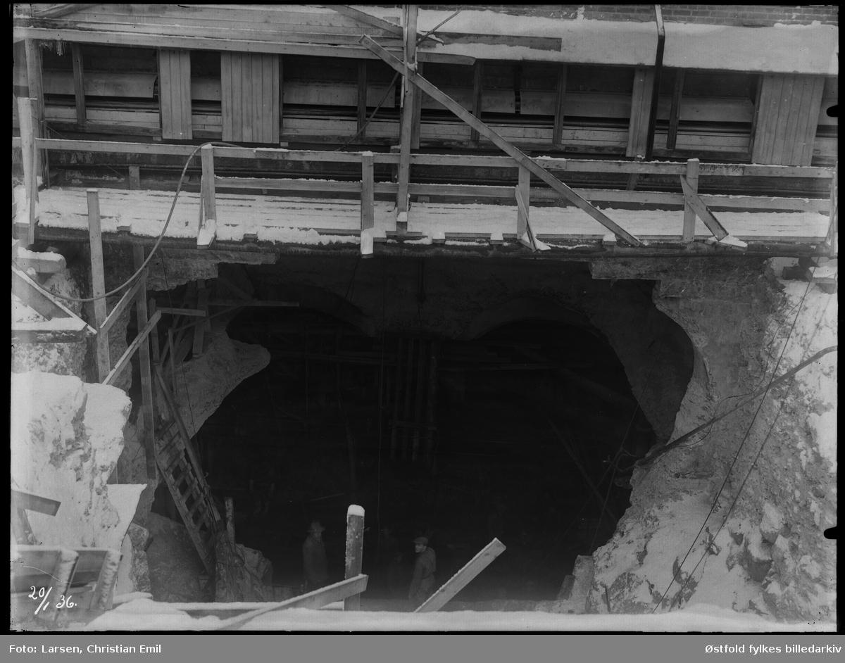 Ukjent fabrikkinteriør, tunnel, ,  2.0. januar 1936.