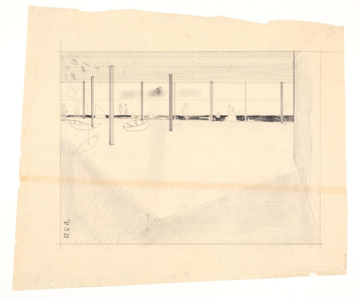 Pê La Fu. Norsk Sjøfartsmuseum [Interiørperspektiv]