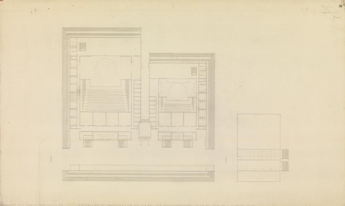 Museumsanlegg i Leopoldville. Plan. [Plantegning]